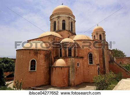 Stock Photo of Agia Triada, Holy Trinity Monastery, cross.