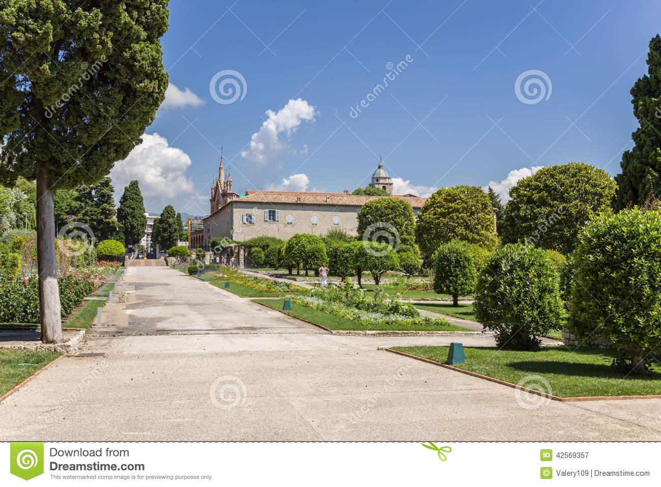 Nice, France. Cimiez Monastery Garden.