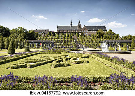 Stock Photo of Former abbey and monastery gardens, Kamp Abbey.