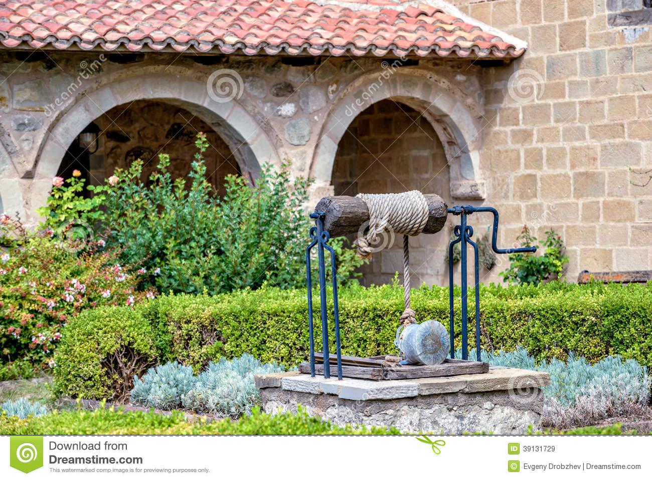 Well In Monastery Garden Stock Photo.