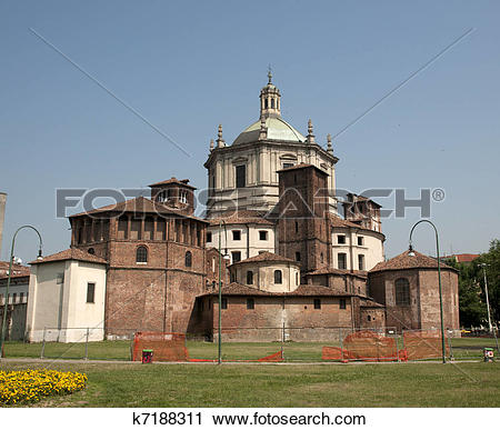 Stock Photography of Basilica of Saint Lawrence (San Lorenzo.