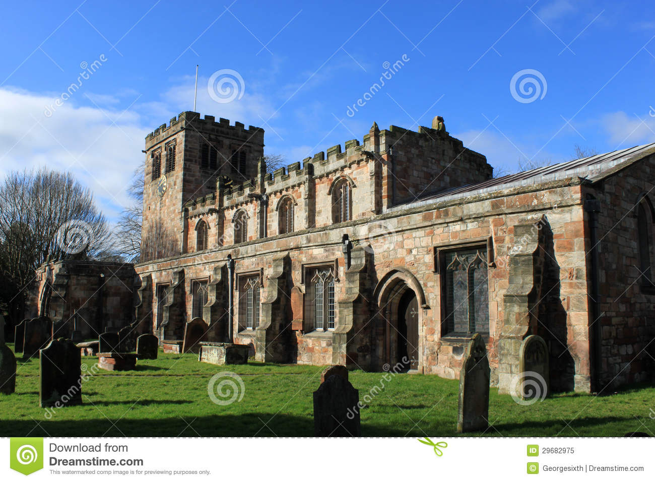 Church Of St Lawrence, Appleby In Westmorland Royalty Free Stock.