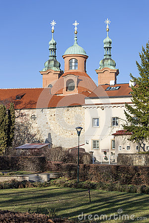 The Church Of St. Lawrence (Vavrinec). Petrin Hill. Prague. Czech.
