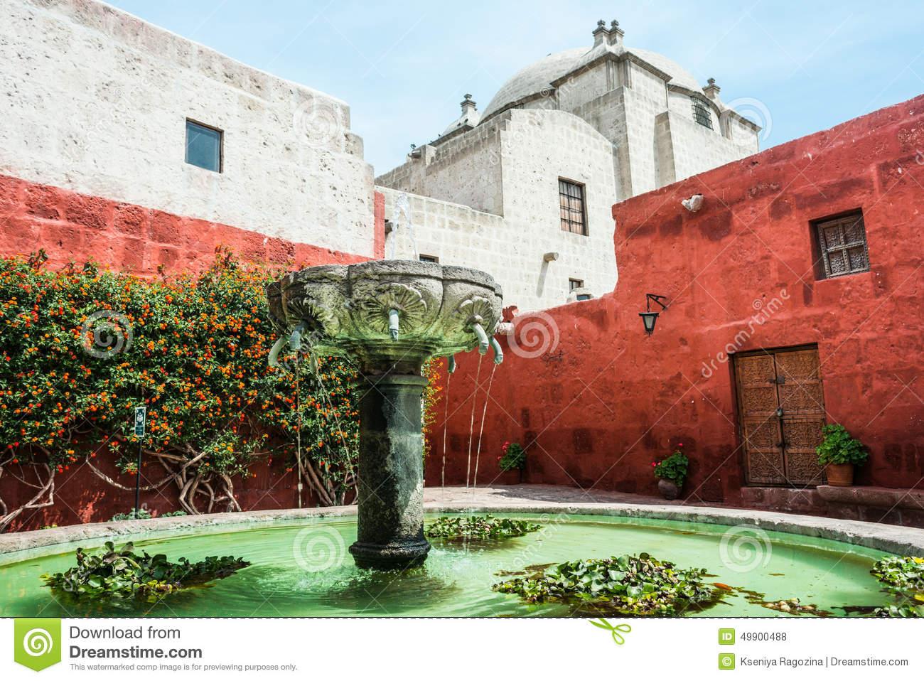 Santa Catalina Monastery, Arequipa, Peru Stock Photo.