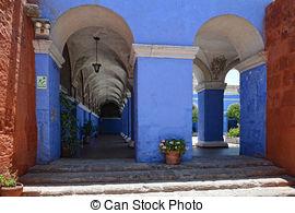 Stock Photo of Lantana bush inside Santa Catalina monastery.