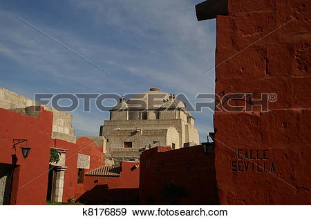 Stock Photograph of Santa Catalina monastery in Arekipa k8176859.