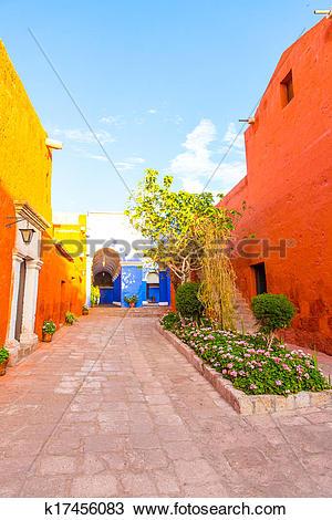 Stock Photo of Monastery of Saint Catherine in Arequipa, Peru.