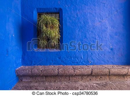 Stock Photos of Santa Catalina Monastery, Arequipa, Peru.