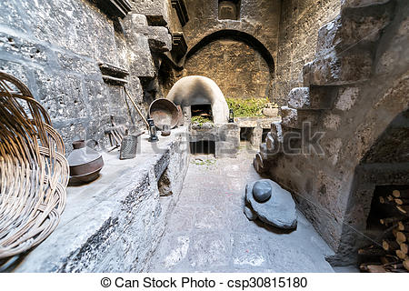 Pictures of Kitchen in Santa Catalina Monastery.