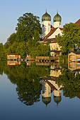 "Stock Image of ""Benedictine Kloster Seeon monastery with monastery."