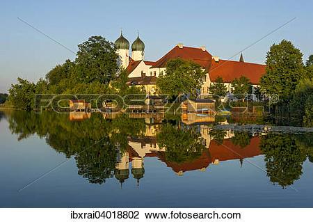 "Stock Photo of ""Benedictine Kloster Seeon monastery with monastery."