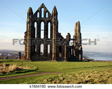 Stock Photo of Whitby Abbey,North Yorkshire k1654193.
