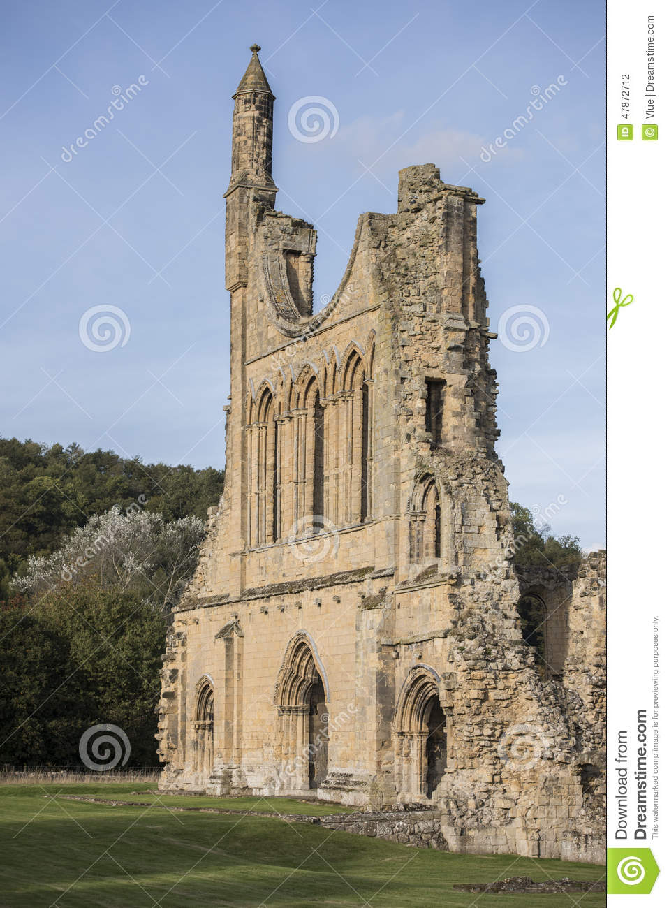 Byland Abbey Ruins, North Yorkshire, England Stock Photo.