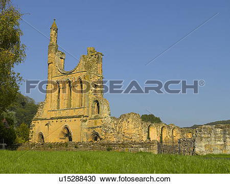 Stock Photography of England, North Yorkshire, near Coxwold. Ruins.