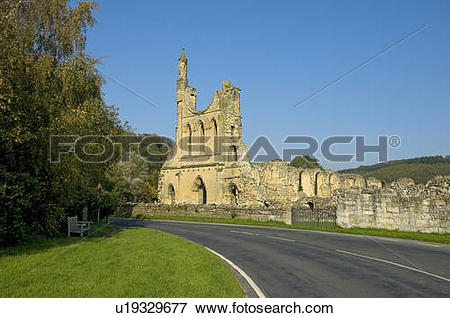 Picture of England, North Yorkshire, near Coxwold. Ruins of Byland.