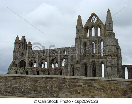 Stock Image of Whitby Abbey,North Yorkshire.