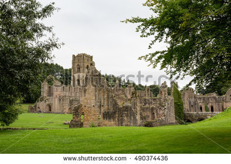 Fountains Abbey Yorkshire Stock Photos, Royalty.