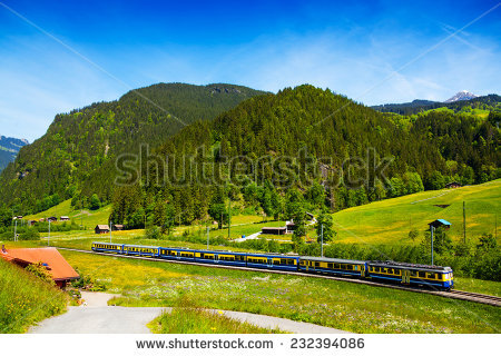 Panoramic Aerial View Mountains Hellbrunn Palace Stock Photo.