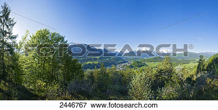 Picture of Panoramic view of mountain range, Hoher Goell.