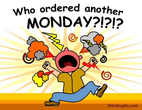 Monday Morning Blues Clipart.
