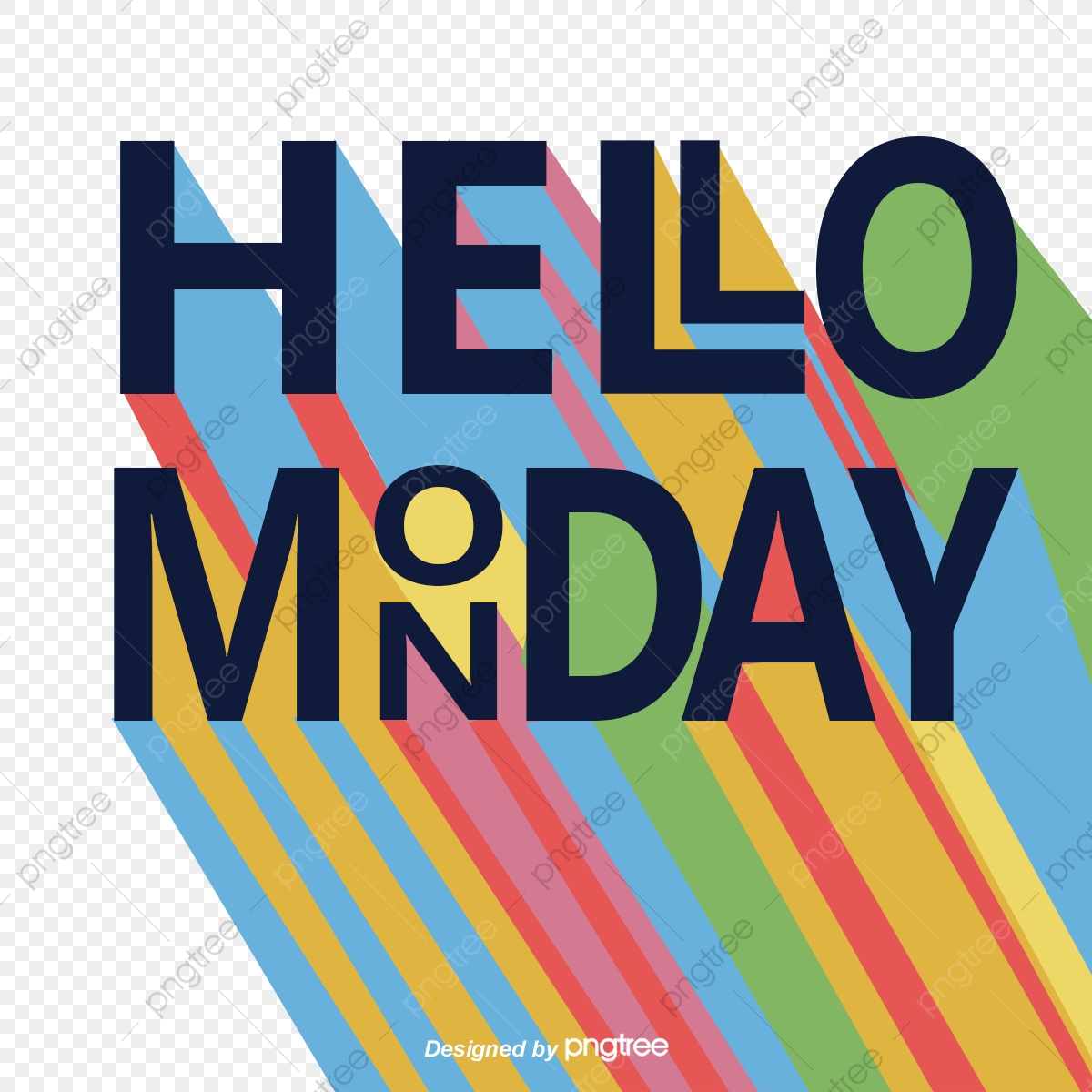Hello Rainbow Monday, Rainbow Vector, Vector Png, English.