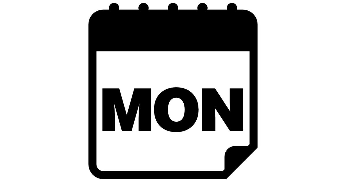 Monday calendar page.