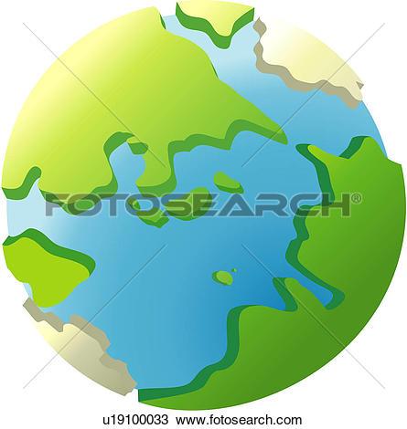 Clip Art of Globe u15132107.