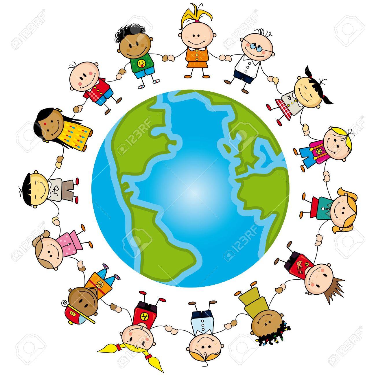 Enfants Autour Du Monde. Clip Art Libres De Droits , Vecteurs Et.