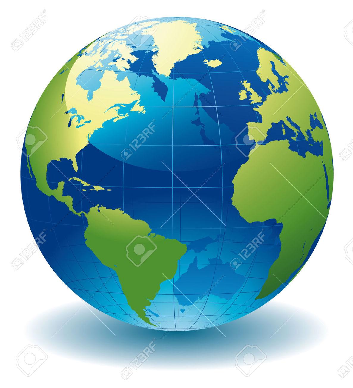 Globe Map Clip Art.