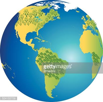 Carte du monde clipart.