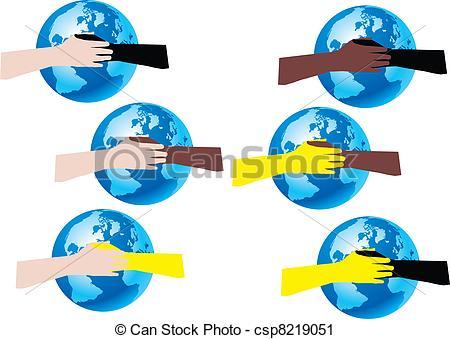 Vector Clip Art of pace nel mondo.