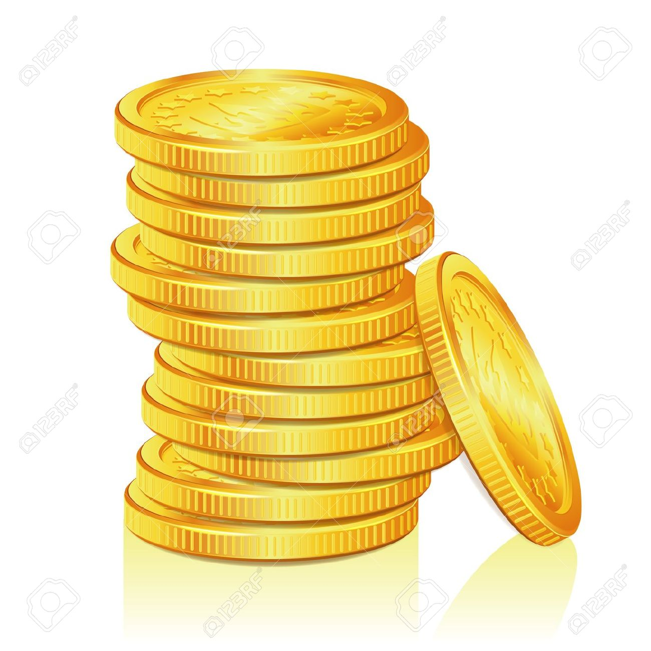Gold stacks clipart.
