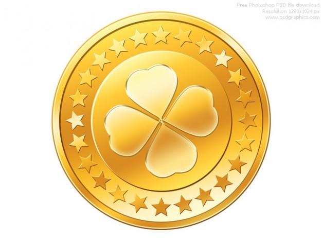 Psd moneda de oro de icono.