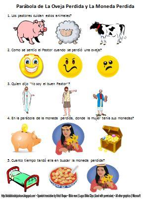 Bible Fun For Kids: Life of Jesus Worksheets in Spanish.