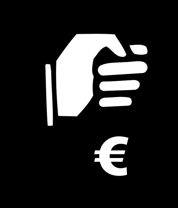 Grafică vectorială gratuită: Jaf, Sac De Bani, Mână, Monede.
