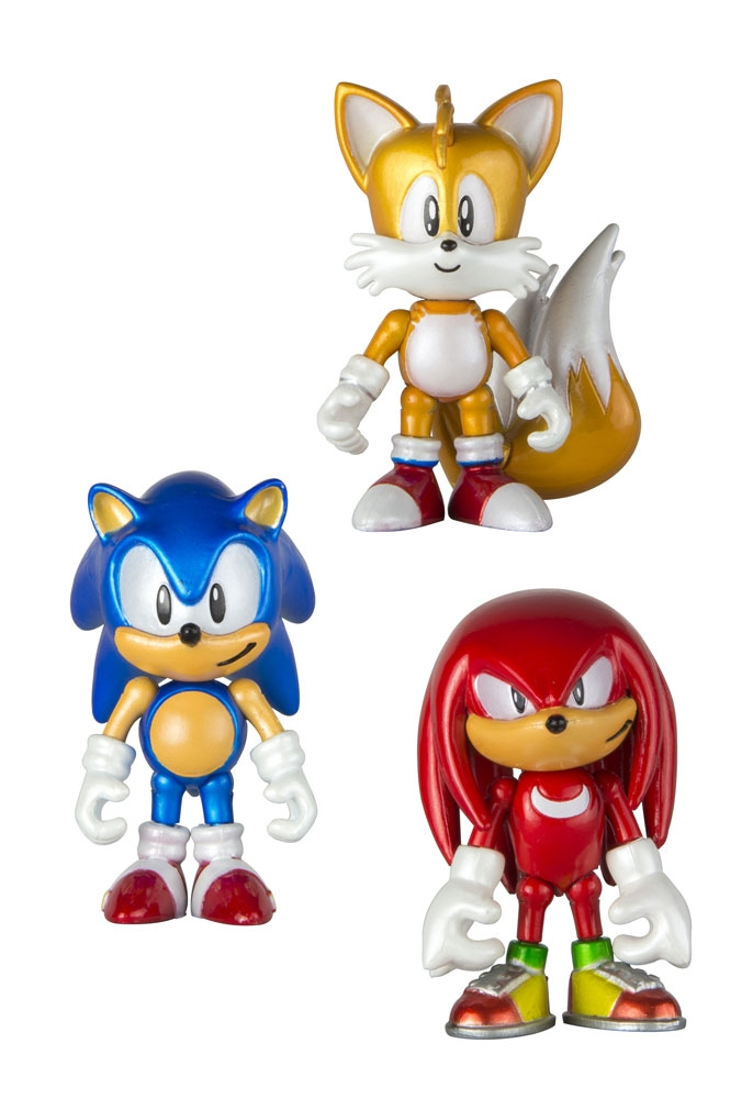 Sonic Boom, Set 3 minifigurine cu monede 8 cm, Jucarii.