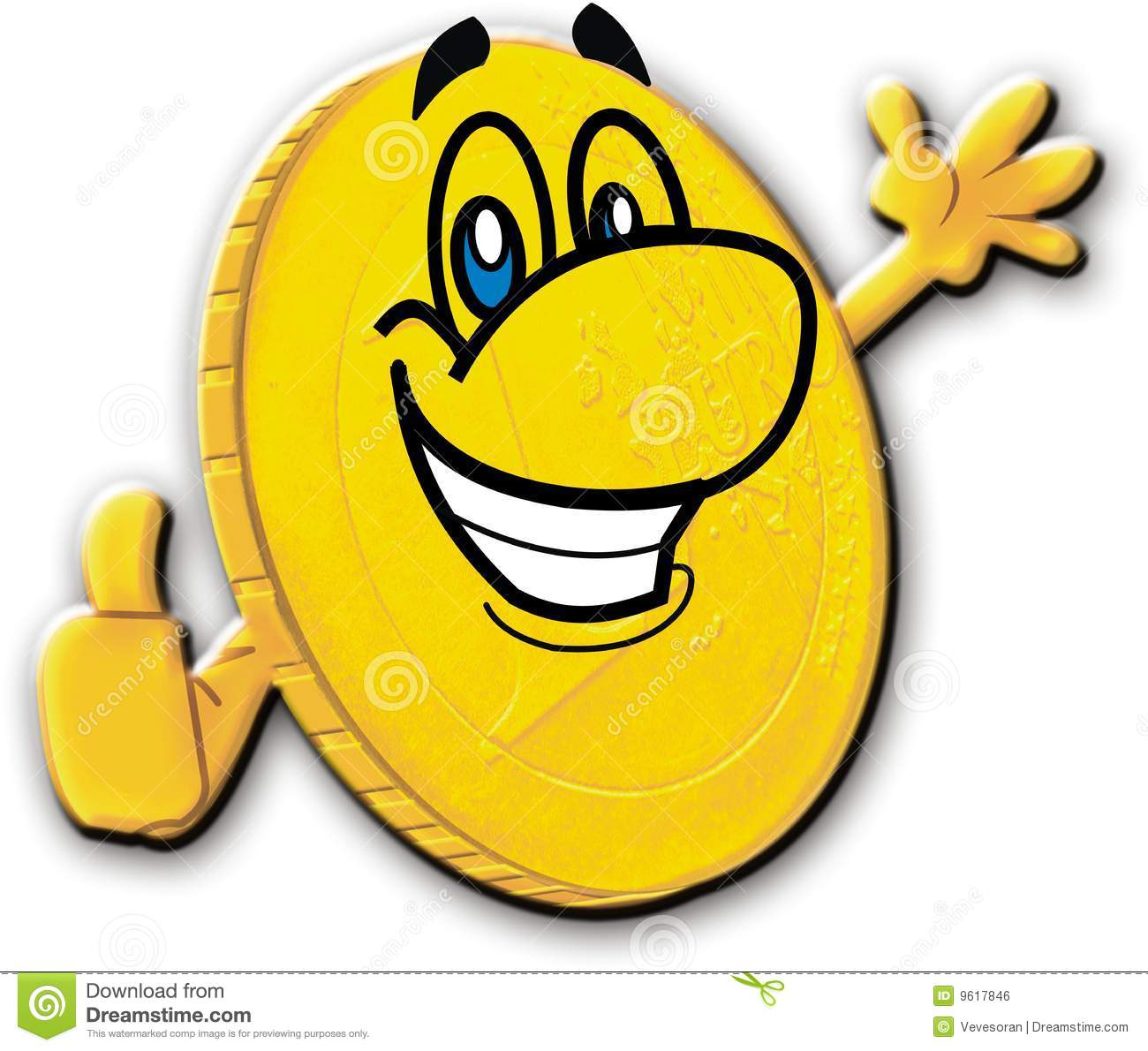 Happy Coin Royalty Free Stock Image.
