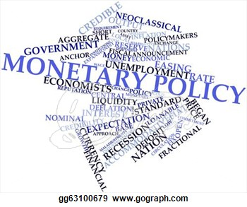 Fiscal Monetary Policy Clip Art.