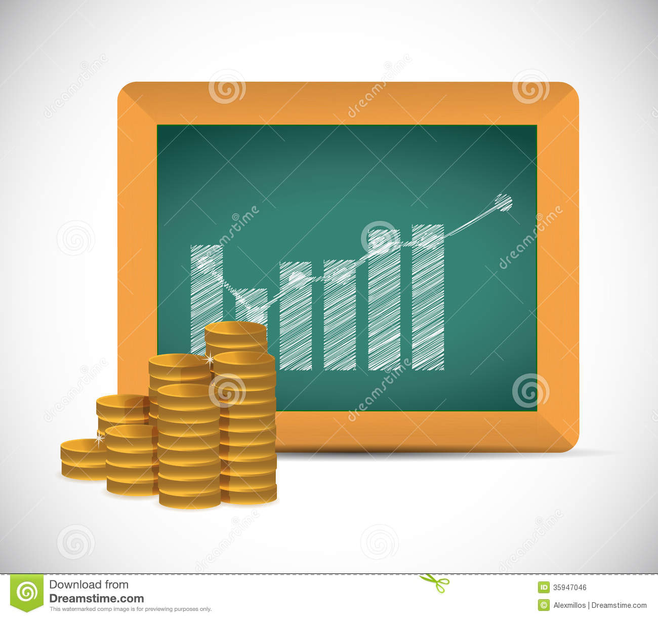 Monetary Educational Concept Illustration Design Royalty Free.