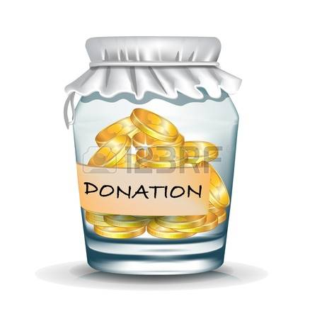 Donation Jar Clipart.
