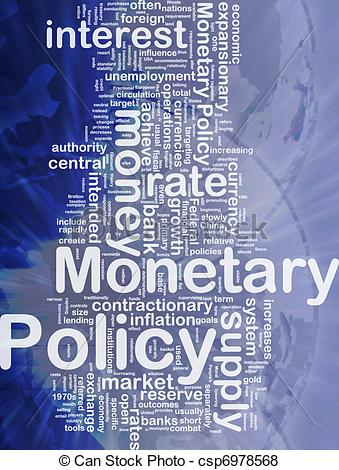 Stock Illustration of Monetary policy background concept.