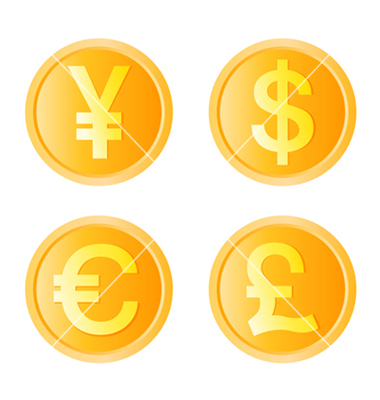 Gold coin four monetary unit vector by jackrust.