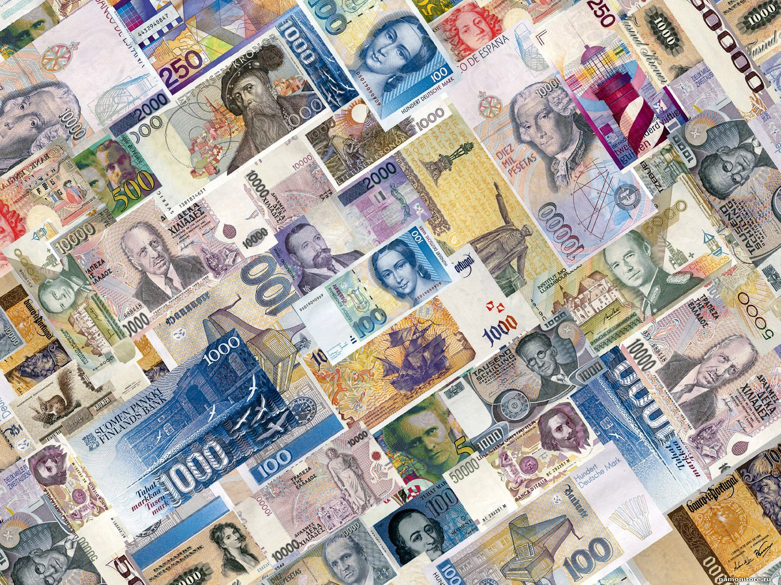 Monetary units of the different countries, clipart, money.