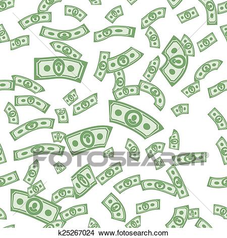 Money patterns seamless, money background from dollars Clipart.