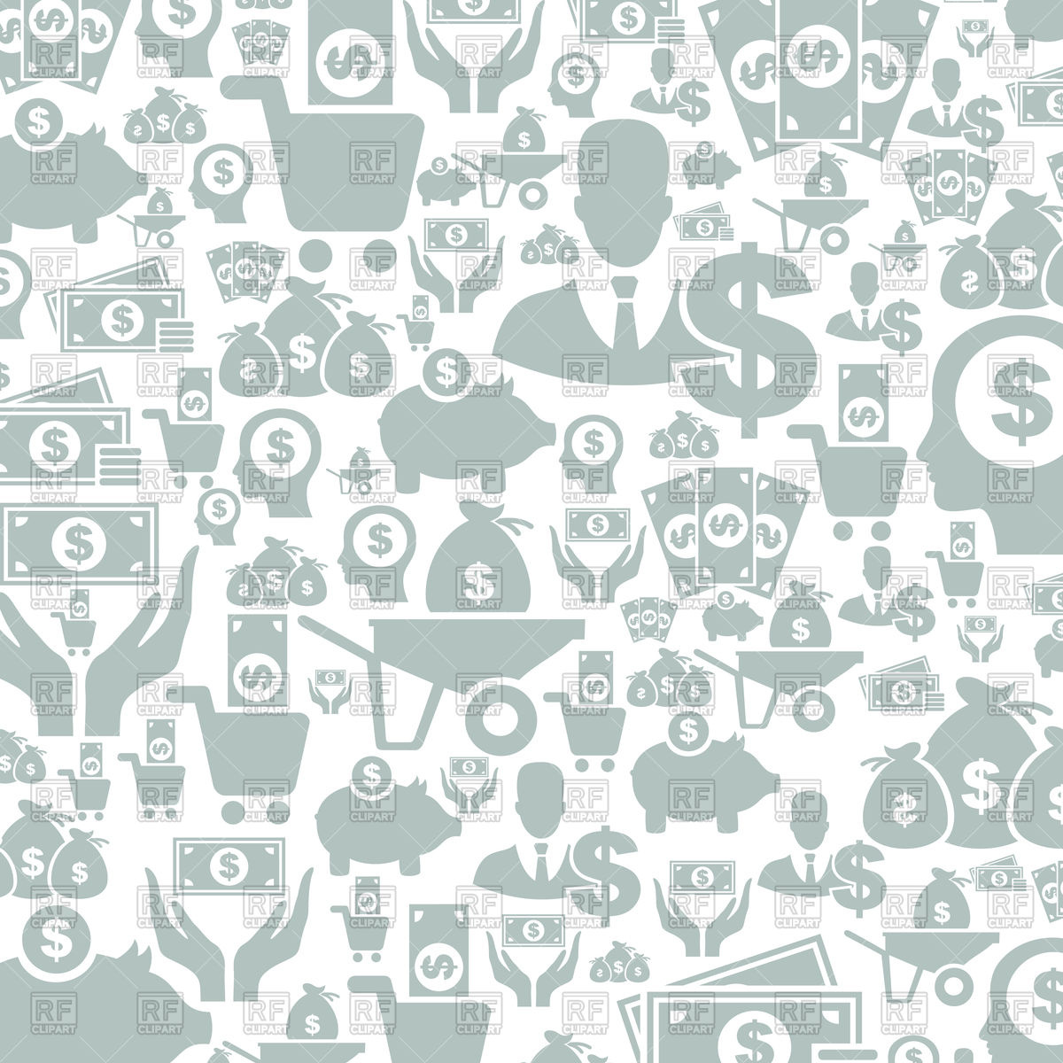 Background made of money icons Stock Vector Image.