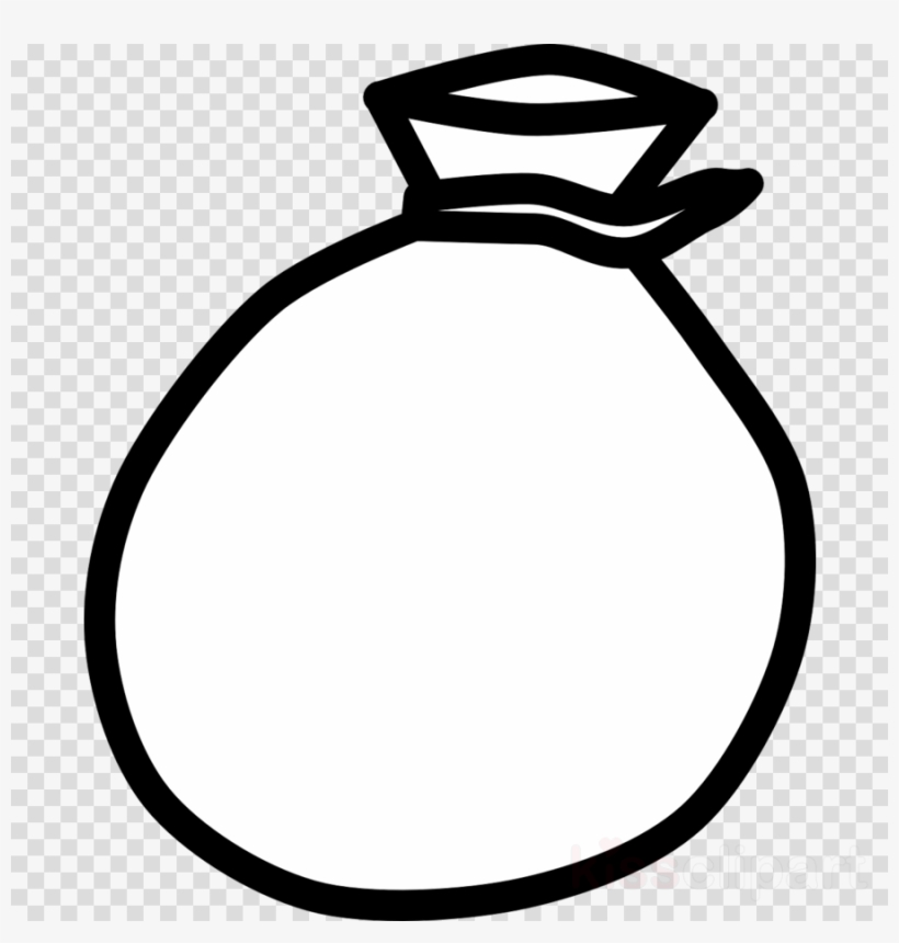Money Bags Clipart Black And White.