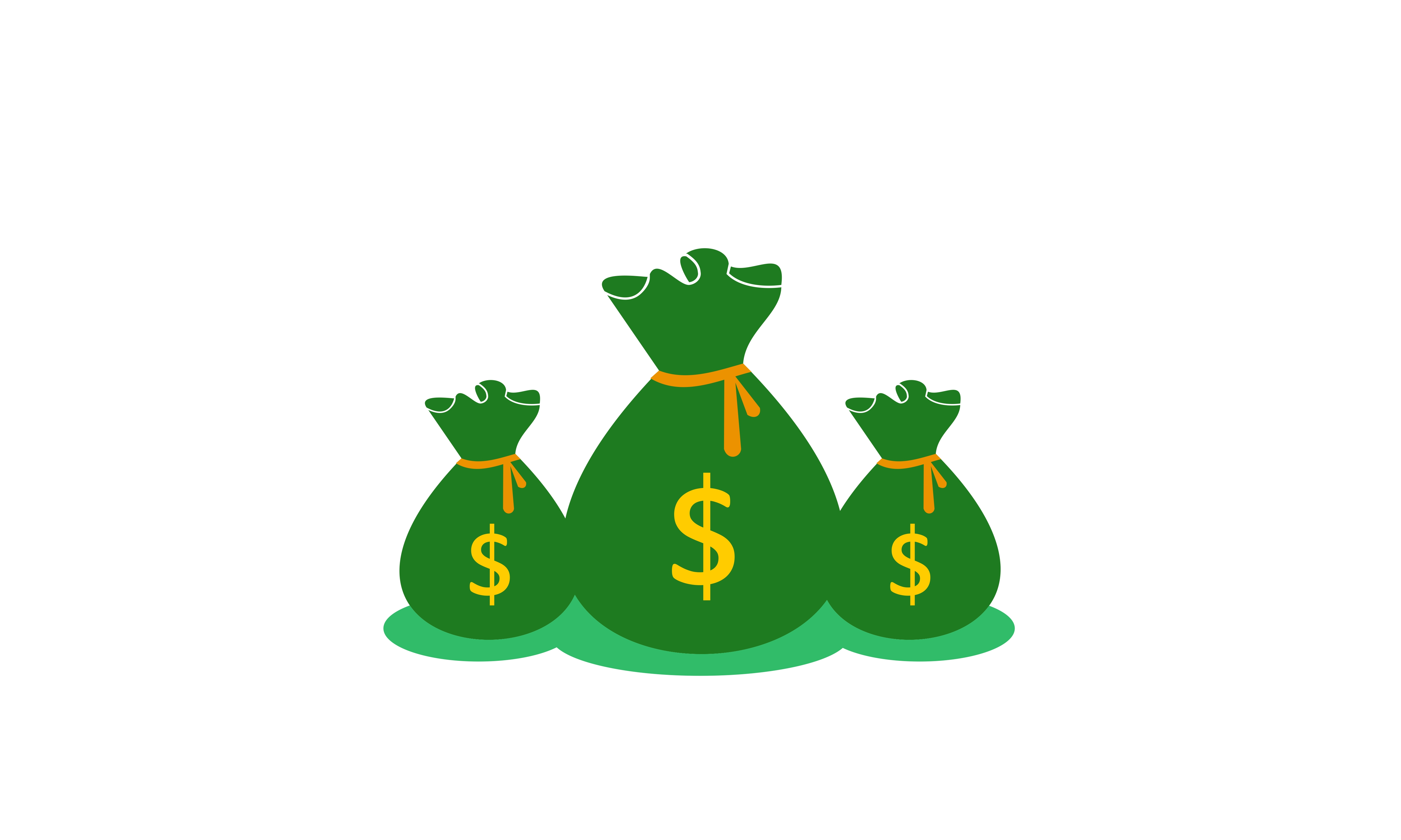 Money, Bag Dollar Logo.
