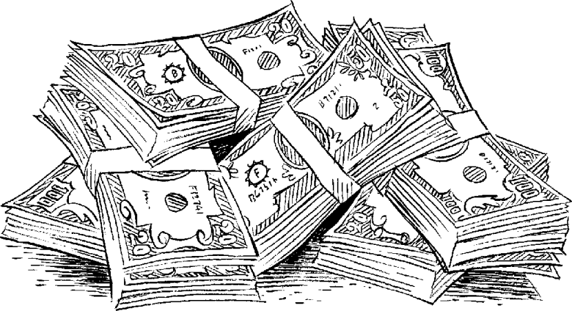 Clipart Money Black And White.