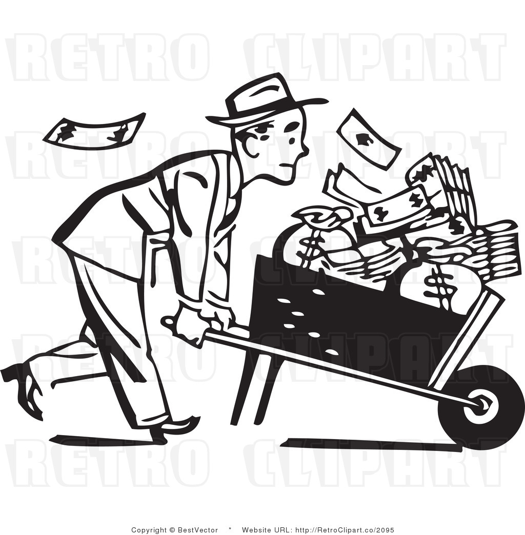 Money Clipart Black And White, Money Black And White Free Clipart.