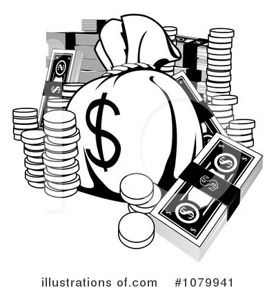 Clipart Money Black And White, Money Black And White Free Clipart.